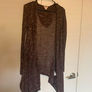 Hooded long cardigan size S